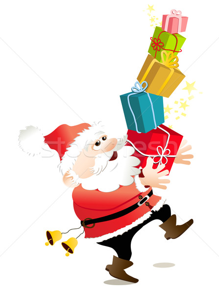 Cartoon Santa Claus Stock photo © jagoda