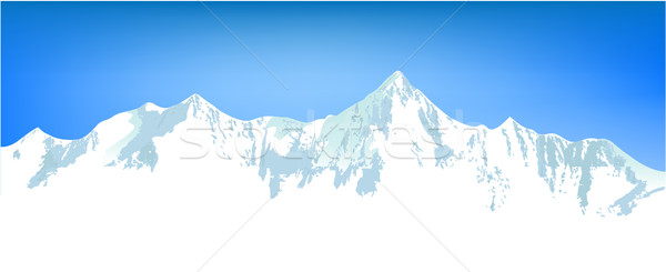 Winter mountains landscape Stock photo © jagoda