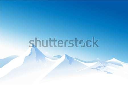 冬 山 風景 高い 光 背景 ストックフォト © jagoda