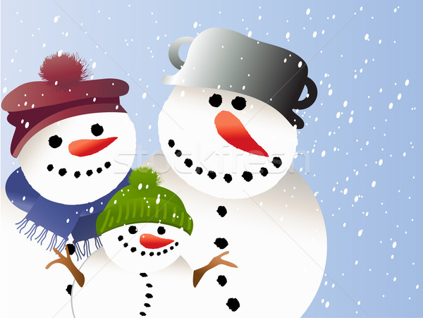Cartoon snowman Stock photo © jagoda