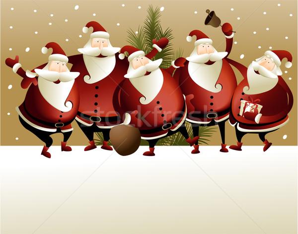 ストックフォト: クリスマス · サンタクロース · ギフト · 封筒 · イベント · 装飾