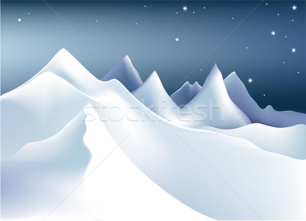 Stock photo: Winter mountains
