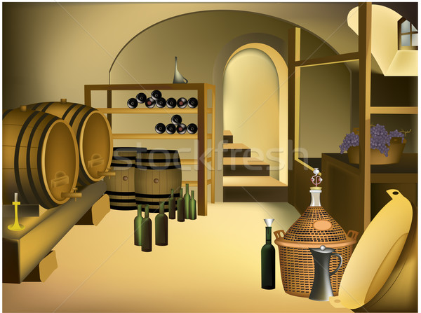 Wine cellar Stock photo © jagoda