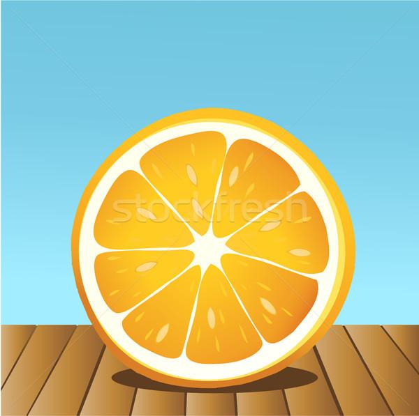 Lata pomarańczy niebieski niebo charakter tropikalnych Zdjęcia stock © jagoda