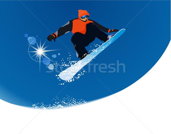 Stockfoto: Wintersport · springen · berg · reizen · leuk
