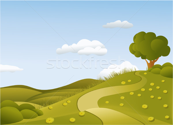 Green country landscape Stock photo © jagoda