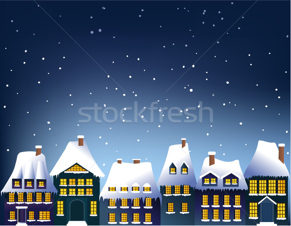 Winter town Stock photo © jagoda