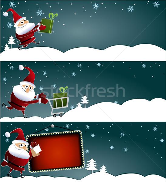 クリスマス バナー サンタクロース 3  販売 冬 ストックフォト © jagoda