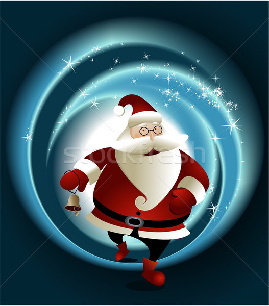 魔法 サンタクロース クリスマス ベクトル 雪 冬 ストックフォト © jagoda