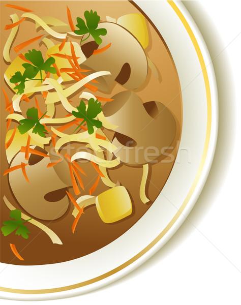 キノコ スープ 背景 食べ 調理 ストックフォト © jagoda