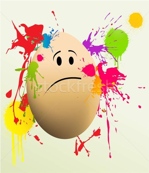イースターエッグ イースター 抽象的な 卵 塗料 芸術 ストックフォト © jagoda