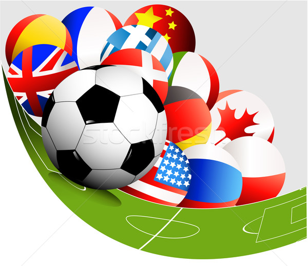 Abstract football background with flags Stock photo © jagoda