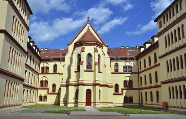 Palacio Zagreb edificio iglesia color ladrillo Foto stock © jakatics