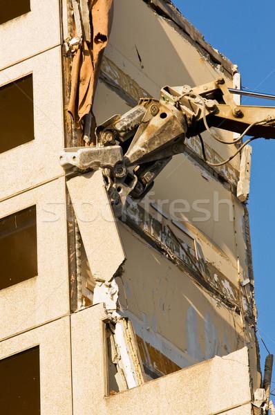 Demolición casa ciudad trabajo urbanas Foto stock © jakatics