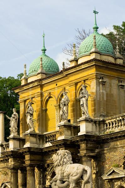 Four seasons anlamaya Budapeşte Bina dört sezon Stok fotoğraf © jakatics