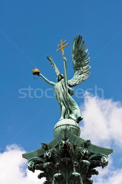 Sculpture Budapest carré Hongrie croix ange Photo stock © jakatics