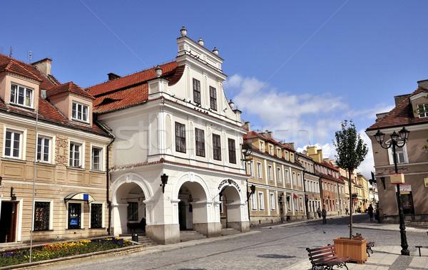 Daglicht centrum Polen huis gebouw Stockfoto © jakatics
