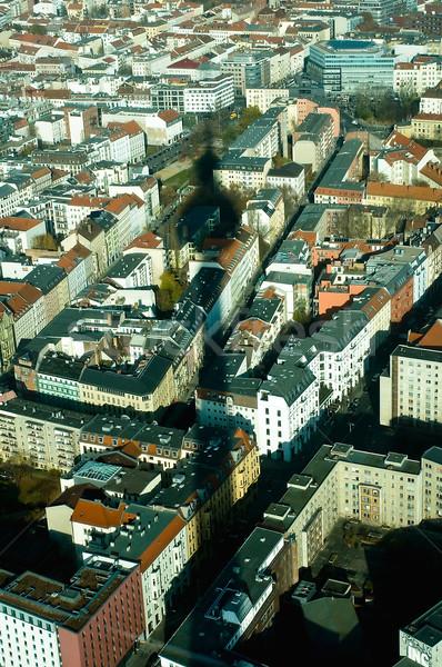 árnyék Berlin televízió torony Németország ház Stock fotó © jakatics