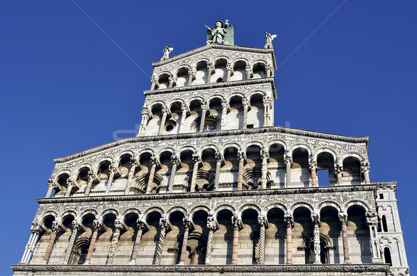 Facade of the basilica San Michele in Foro in Lucca Stock photo © jakatics