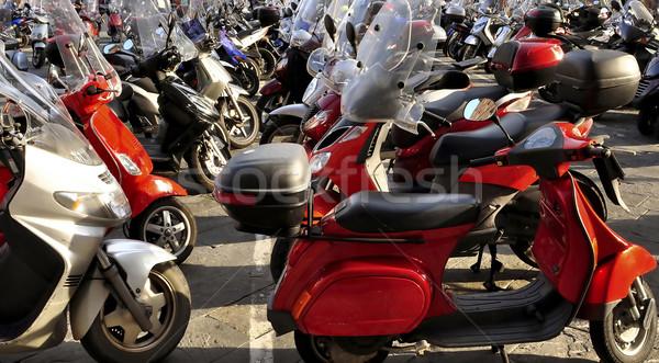 Park şehir sokak kalabalık bisiklet Stok fotoğraf © jakatics
