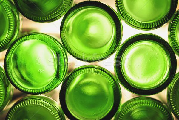 şişeler yeşil boş şarap soyut cam Stok fotoğraf © jakatics