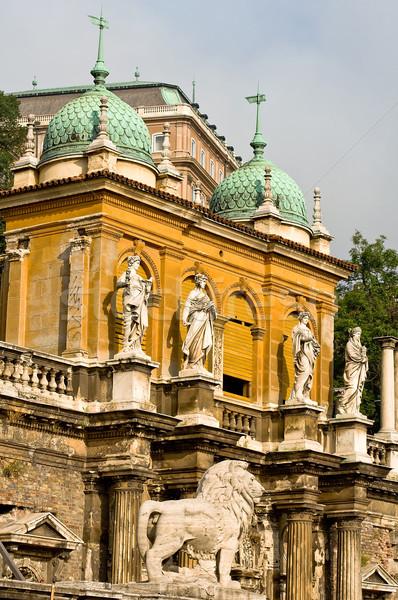 Radice castello Budapest Ungheria estate inverno Foto d'archivio © jakatics