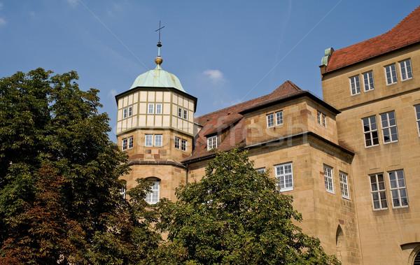 öreg kastély Németország Európa épület város Stock fotó © jakatics