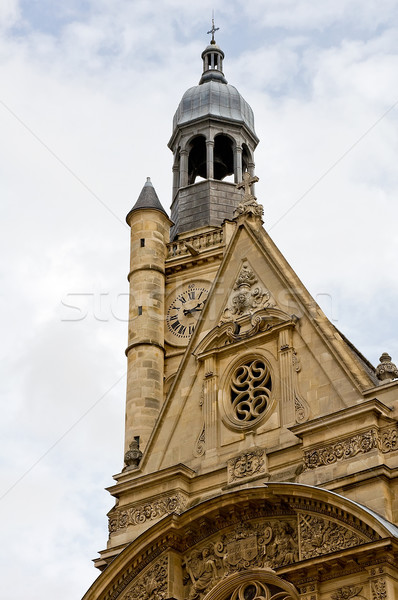 Belltower of the Saint Etienne church in Paris Stock photo © jakatics