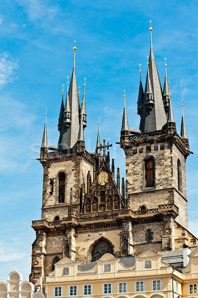 Tyn church in Prague Stock photo © jakatics