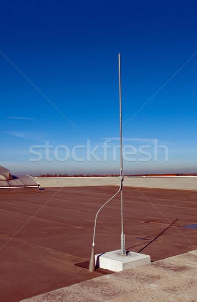 Foudre tige toit bâtiment lumière technologie Photo stock © jakatics