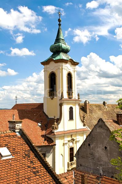 The roofs of Szentendre Stock photo © jakatics
