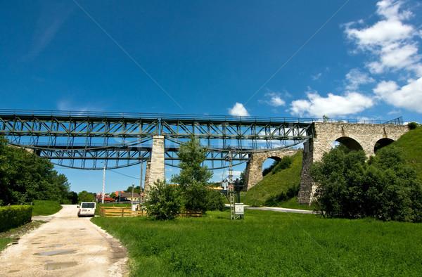 Olda railway viaduct Stock photo © jakatics