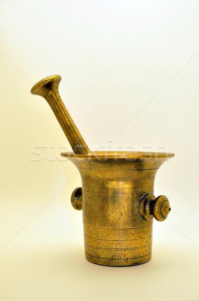 Velho latão comida casa cozinha ferramenta Foto stock © jakatics
