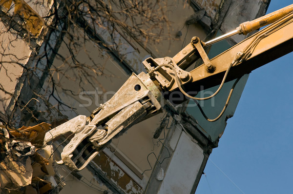 Demolition of an old building Stock photo © jakatics