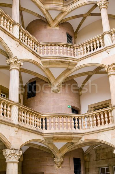 Merdiven eski kale Avrupa kültür eski Stok fotoğraf © jakatics