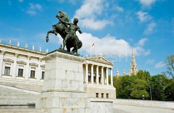 Detay parlamento Avusturya şehir salon Viyana Stok fotoğraf © jakatics