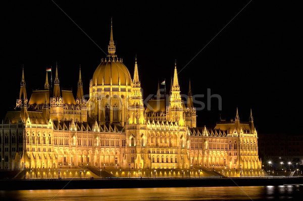 The Hungarian Parliament by night Stock photo © jakatics