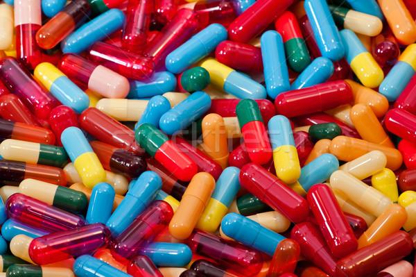 Vegyes kapszulák színes orvosi üres terv Stock fotó © jakatics