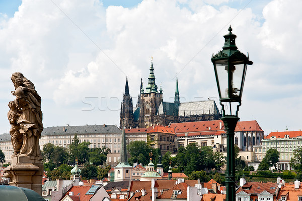 View to the Castle in Prague Stock photo © jakatics