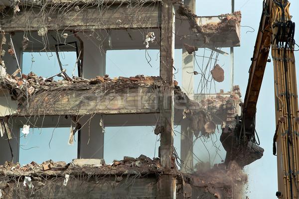 Yıkım eski bina ev şehir çalışmak kentsel Stok fotoğraf © jakatics