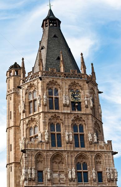 şehir salon kule eski Almanya Stok fotoğraf © jakatics