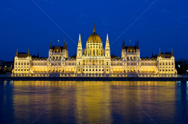 Stock photo: The Parliament in Budapest by night
