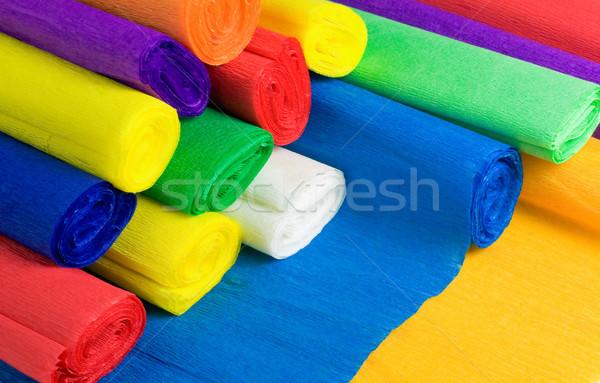 Colored bundles of crepe paper Stock photo © jakatics