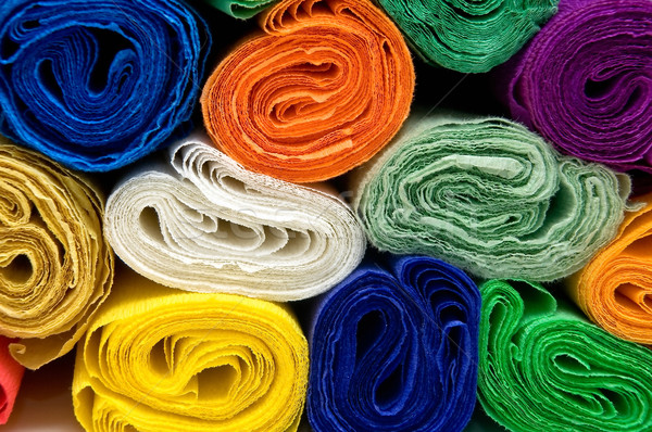 Colorful bundles of crepe papers Stock photo © jakatics