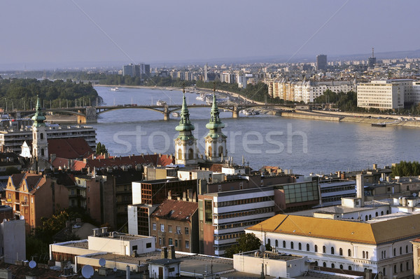 View of the river Danube Stock photo © jakatics