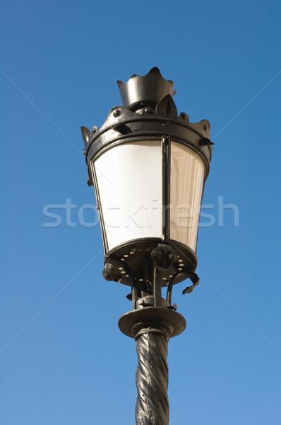 Utcalámpa terv fém szépség lámpa fekete Stock fotó © jakatics