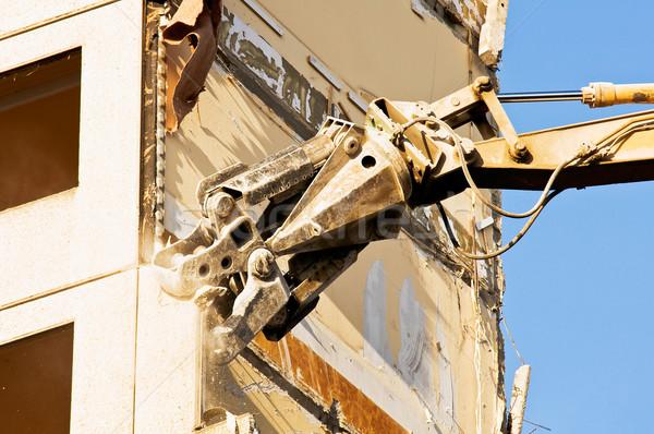 Demolição antigo edifício casa cidade trabalhar urbano Foto stock © jakatics