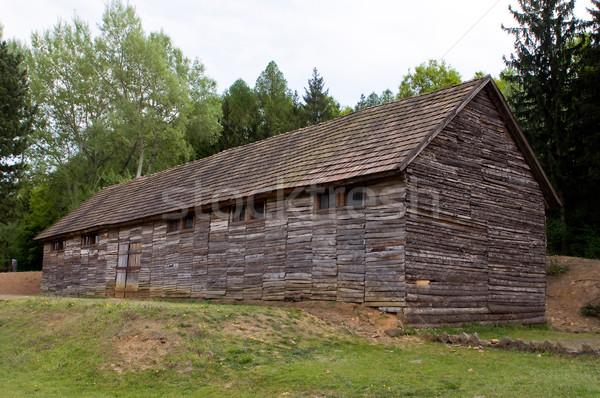Dood kamp communist huis hout dode Stockfoto © jakatics