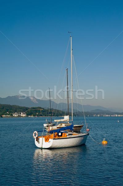 Sailboats on the lake Woerther Stock photo © jakatics