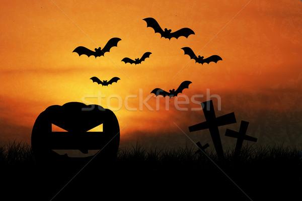 Halloween night with grunge background Stock photo © jakgree_inkliang